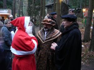 Cranach+Luther mit dem Möllensdorfer Weihnachtsmann