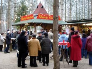 Grillhaus für Weihnachtswurst